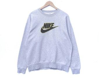 0c484099 NIKE Sweatshirt Big Logo Embroidery Sweater Pullover Jumper Crewneck Swoosh  Hip Hop Swag Urban Streetwear HypeBeast XL Size Shirt