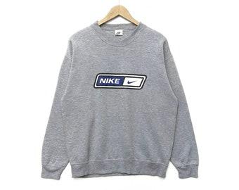 ee750d293c18 Vintage NIKE Sweatshirt Crewneck Sweater Pullover Jumper 90s Shirt Swoosh  Hip Hop Swag Rap Tees Streetwear Print Logo Big