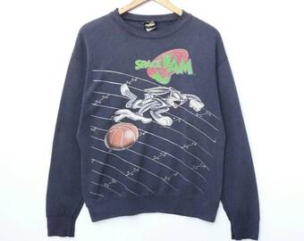 1ade3bfd2cd9cf Vintage SPACE JAM Sweatshirt Sweater Pullover Crewneck Long Sleeve Warner  Bros Hip Hop Swag Urban Streetwear HypeBeast Large Size
