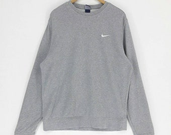 33332f6c0d NIKE Sweatshirt Oversized Sweater XL Pullover Crewneck Embroidery Swoosh Small  Logo Hip Hop Swag Rap Tees