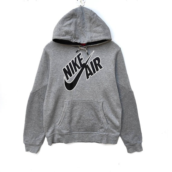 Vintage NIKE Sweatshirt Sweater Pullover Jumper Big Logo Printed Hip Hop Swag Urban Streetwear Black Rap Tee Crewneck Nike Air Medium Size