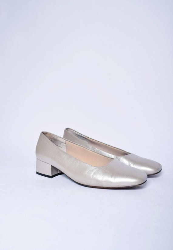 c086700125e Champaign Real Leather Chunky Heel NORDSTROM Pumps   Vintage