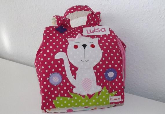 Kids Backpack Cat Etsy
