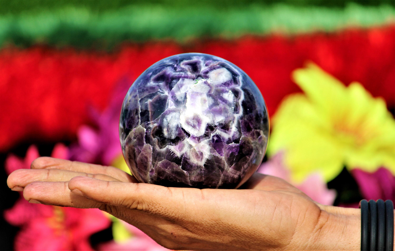 Natural Auralite 23 Puffy Heart Healing Power 55MM Meditation Love Stone
