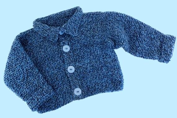 Jacke Boys Jacket 9 Strickjacke Handmade Baby 12 Blau For Jungen Month Knitted 74 Gr 80 Melange Blue ZiPulwOkXT