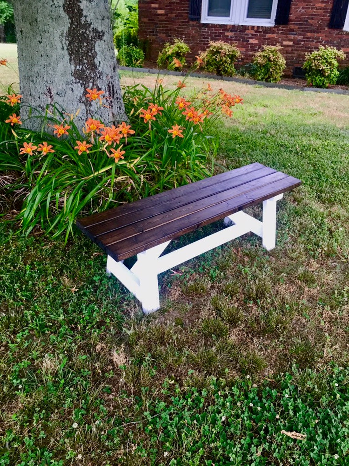 Handmade Wooden Bench/Rustic Bench/Farmhouse Bench/ Entryway Bench
