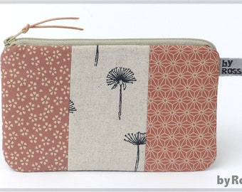 Universal bag/make-up bag made of Japanese fabrics, with pustules, great gift for women