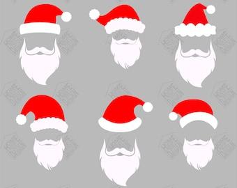 e5cc9ba14cb Santa Hat with Beard svg - Santa Hat with Beard digital clipart for Design