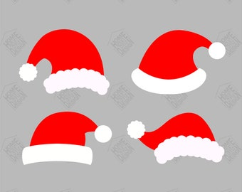 Christmas Hat Vector Png.Christmas Hat Svg Etsy