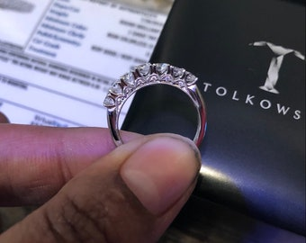 e7061dc93 REAL Certified Tolkowsky diamond 1.00 carat band / ring 14k WG Kay jewelers  Lifetime warranty paperwork +box