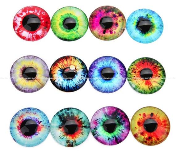 Women Mix Pupil Eye Photo Bracelets Round Glass Cabochon Earrings Accessories