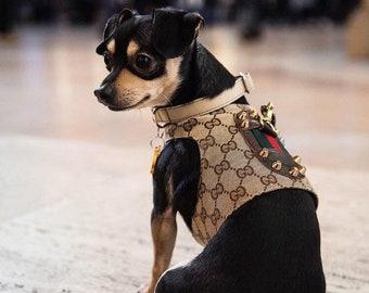 5fca719a54579b Brown Monogram Designer Classic Dog Harness Vest