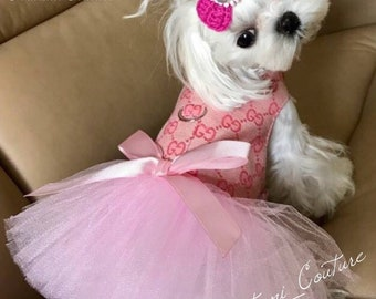 Ballerina Pink Designer Dog Tutu Harness Dress 241add886