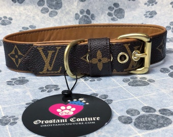 61c6dfbc16ac Camel Lambskin Leather Classic Brown Dog Collar and leash