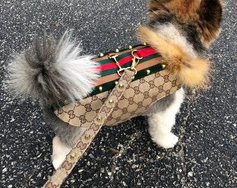 929a96e576b31a Luxury Horsebit Dog Coat