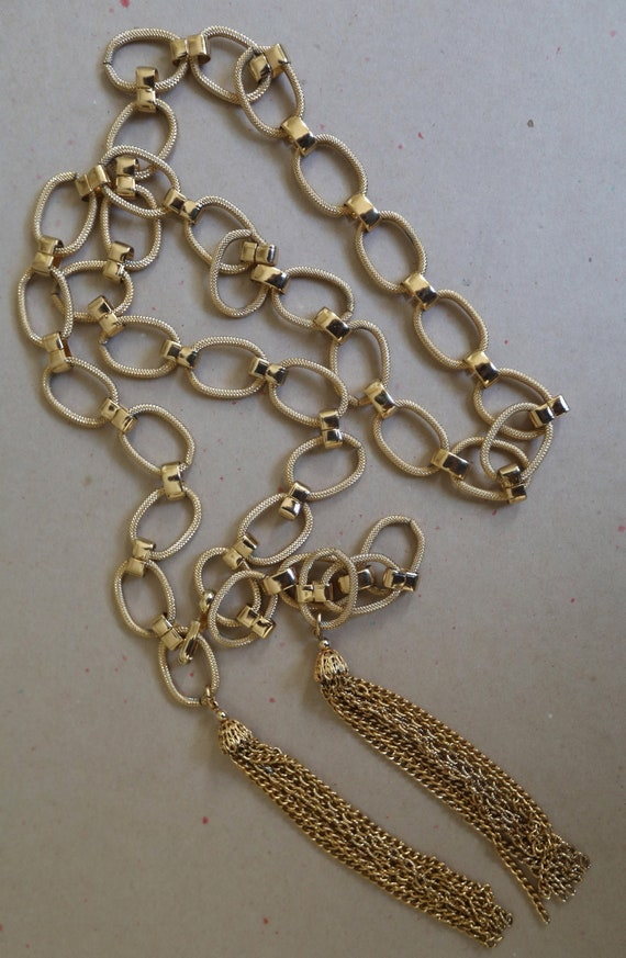 Vintage Metal Tassel Chain Belt