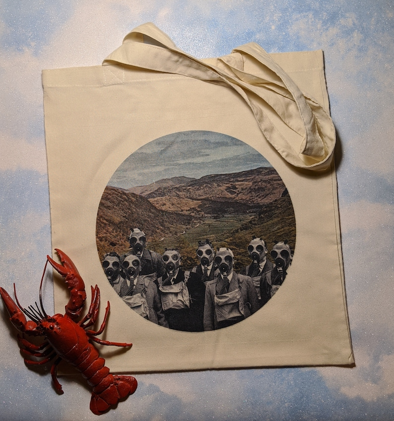 Tote bag featuring School Trip 1942 by LocalHotelParking image 0