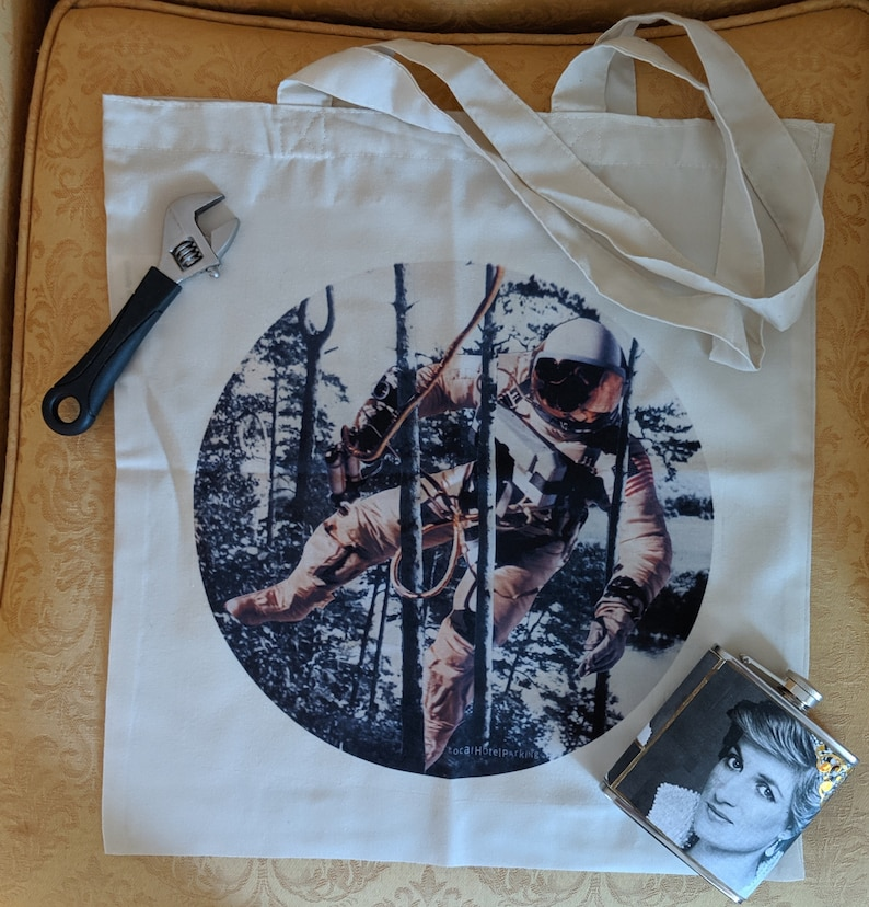 Tote bag featuring Goddamnaut by LocalHotelParking image 0