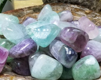 One Tumbled Rainbow Fluorite