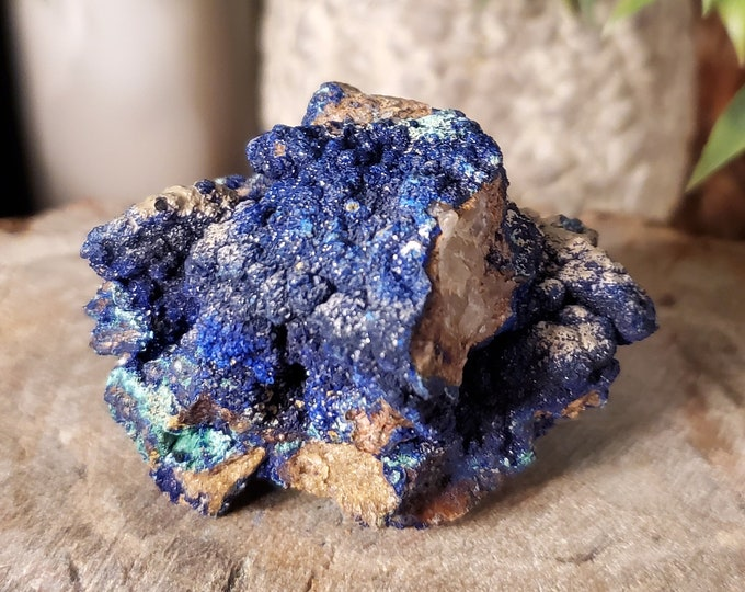 Natural Rough Azurite w/Malachite