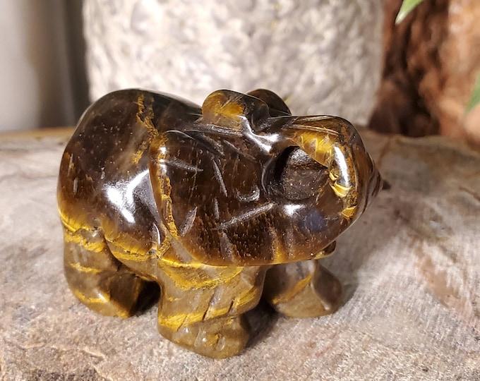 Golden Tiger's Eye Elephant Spirit Animal Totem