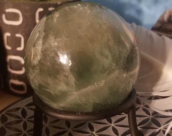 Green Fluorite Sphere F1