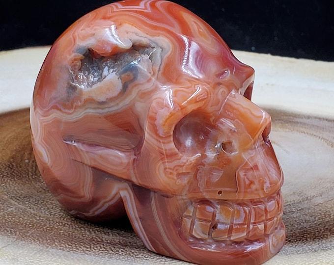 2 Inch Carnelian Skull