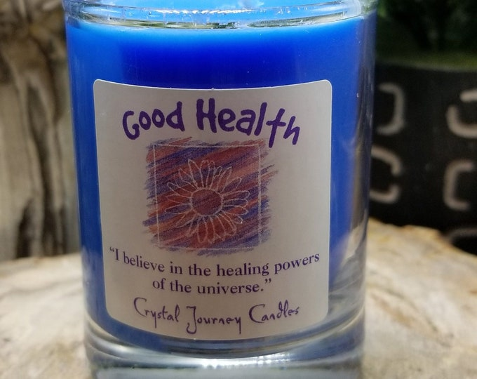 Crystal Journey Candle/Naturally Pure Soy-Good Health