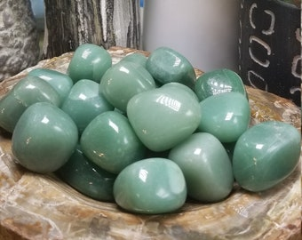 One Tumbled Green Aventurine