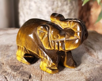 Golden Tiger's Eye Elephant Spirit Animal Totem