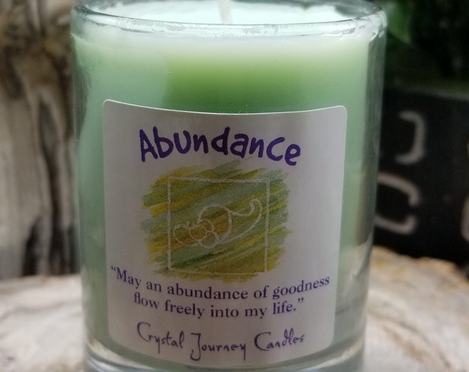 Crystal Journey Candle/Naturally Pure Soy-Abundance