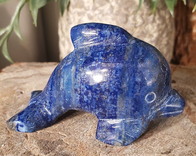 Lapis Lazuli Dolphin Spirit Animal/Totem