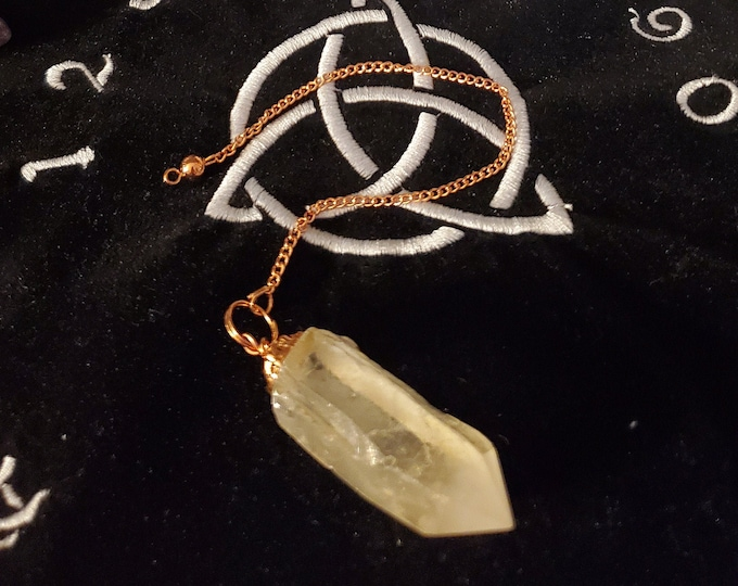 Rough Clear Quartz Point Pendulum