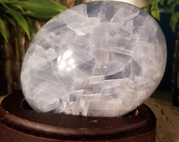 Blue Calcite Palm Stone (x Large)