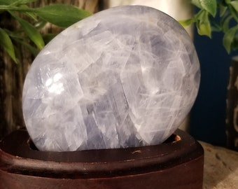 Blue Calcite Palm Stone (x Large)