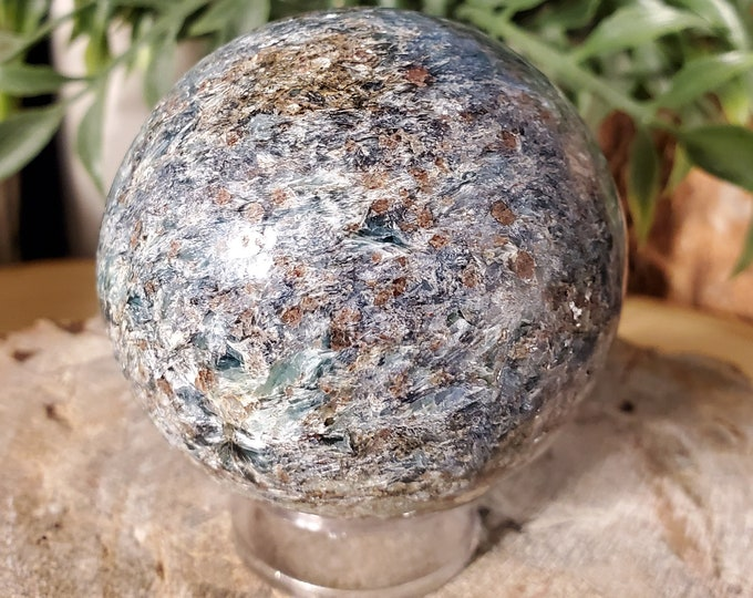 High Vibe Blue/Green Kyanite Sphere