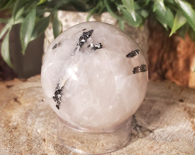 Black Tourmalated Quartz Sphere