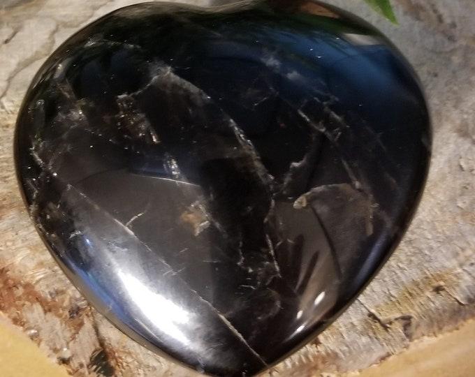 Smoky Quartz Heart (s212)