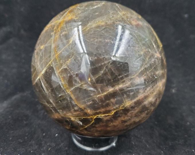 Black Moonstone Crystal Sphere B158