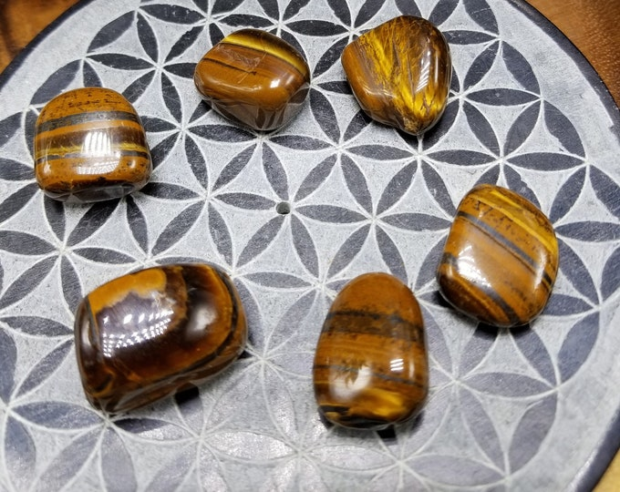One Tiger Eye Tumbled Stone