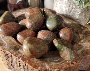 One Tumbled Unakite Jasper