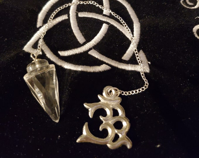 Clear Quartz Pendulum w/OM Light Diffuser