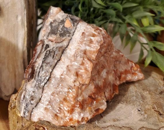 Natural Multi Color Calcite w/Hematite
