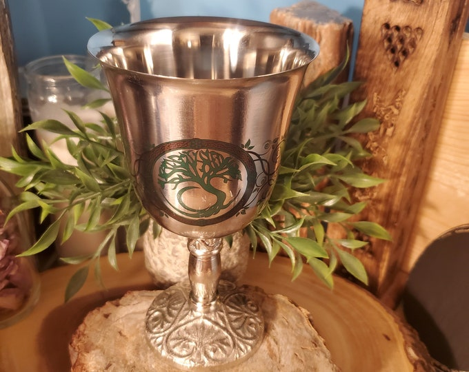 Chalice Stainless Steel w/Tree of Life