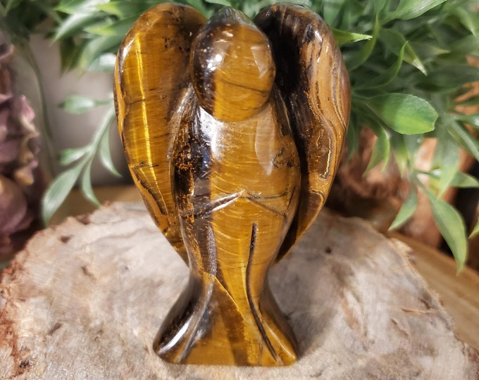 4 Inch Tiger's Eye Angel