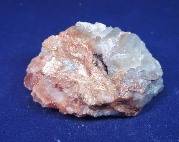 Natural Raw Multi-Colored Calcite with Hematite