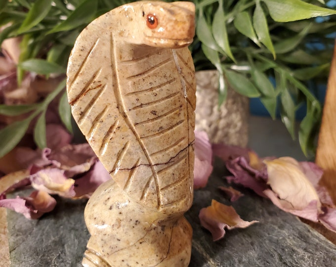 Soapstone Cobra Spirit Animal/Totem