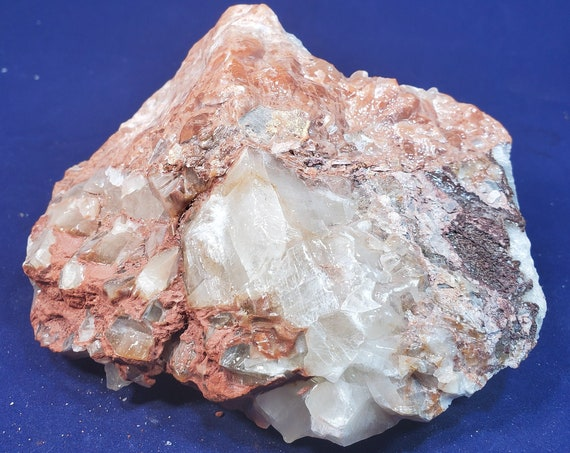 Natural Multi-Colored Calcite with Hematite