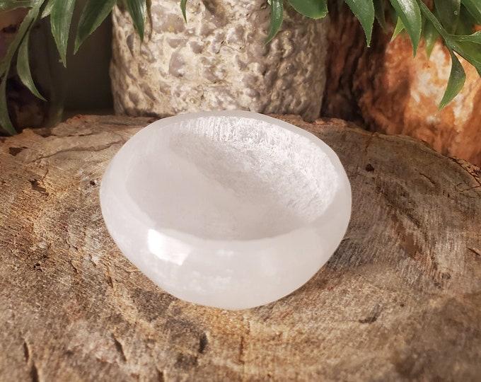 Small White Selenite Bowl