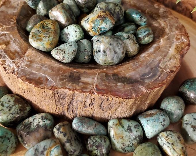 One Tumbled African Turquoise TAFTQ1